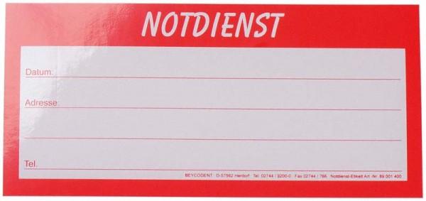 Notdienst Etiketten
